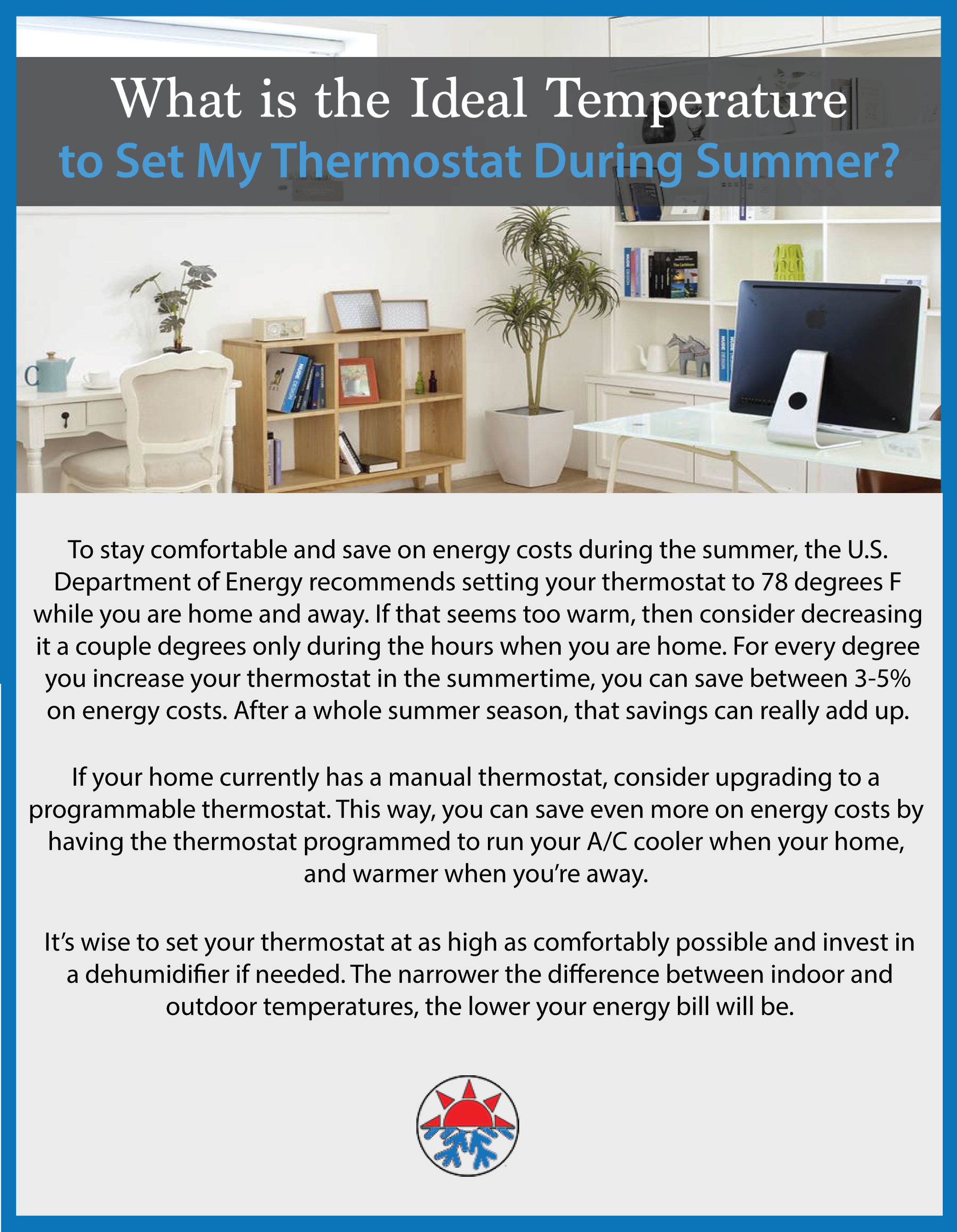 Ideal Temperature Thermostat During Summer